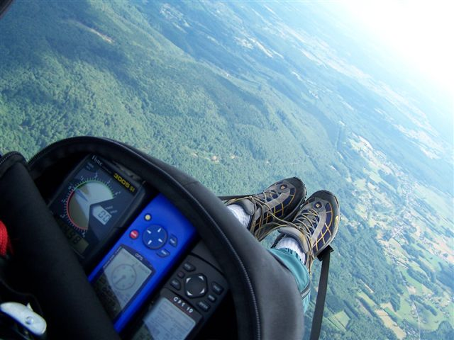 Equipement GPS et alti-vario pour le vol parapente
